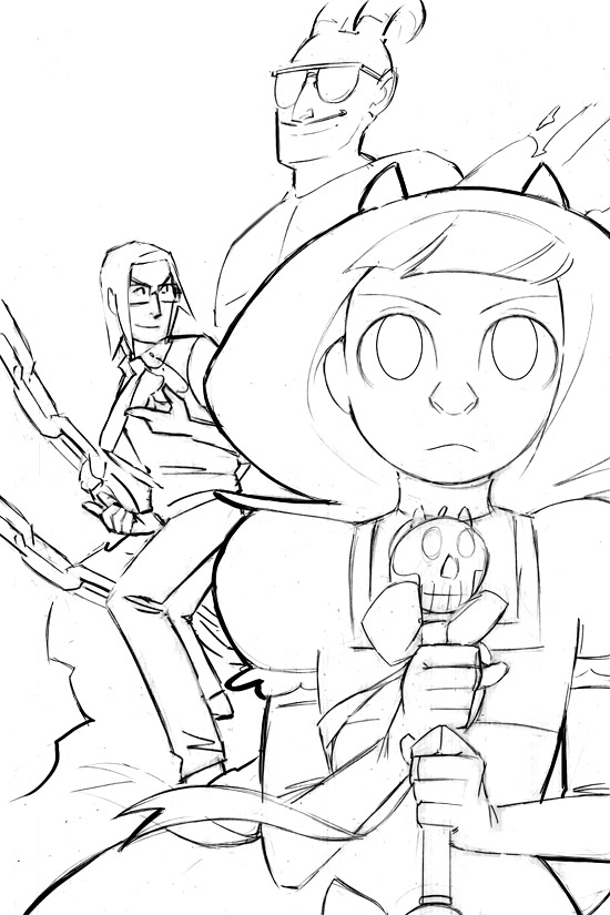 Evil Diva Issue 6 Cover Sketch